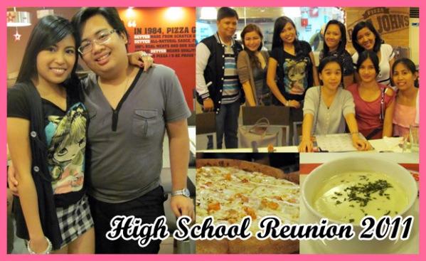 High School Reunion at Papa John's