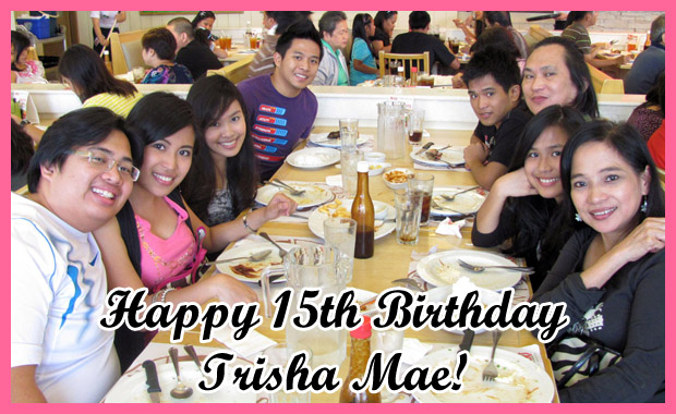 Happy 15th Birthday Trisha Mae!