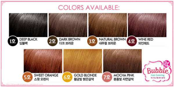 Etude House Hair Color Swatches